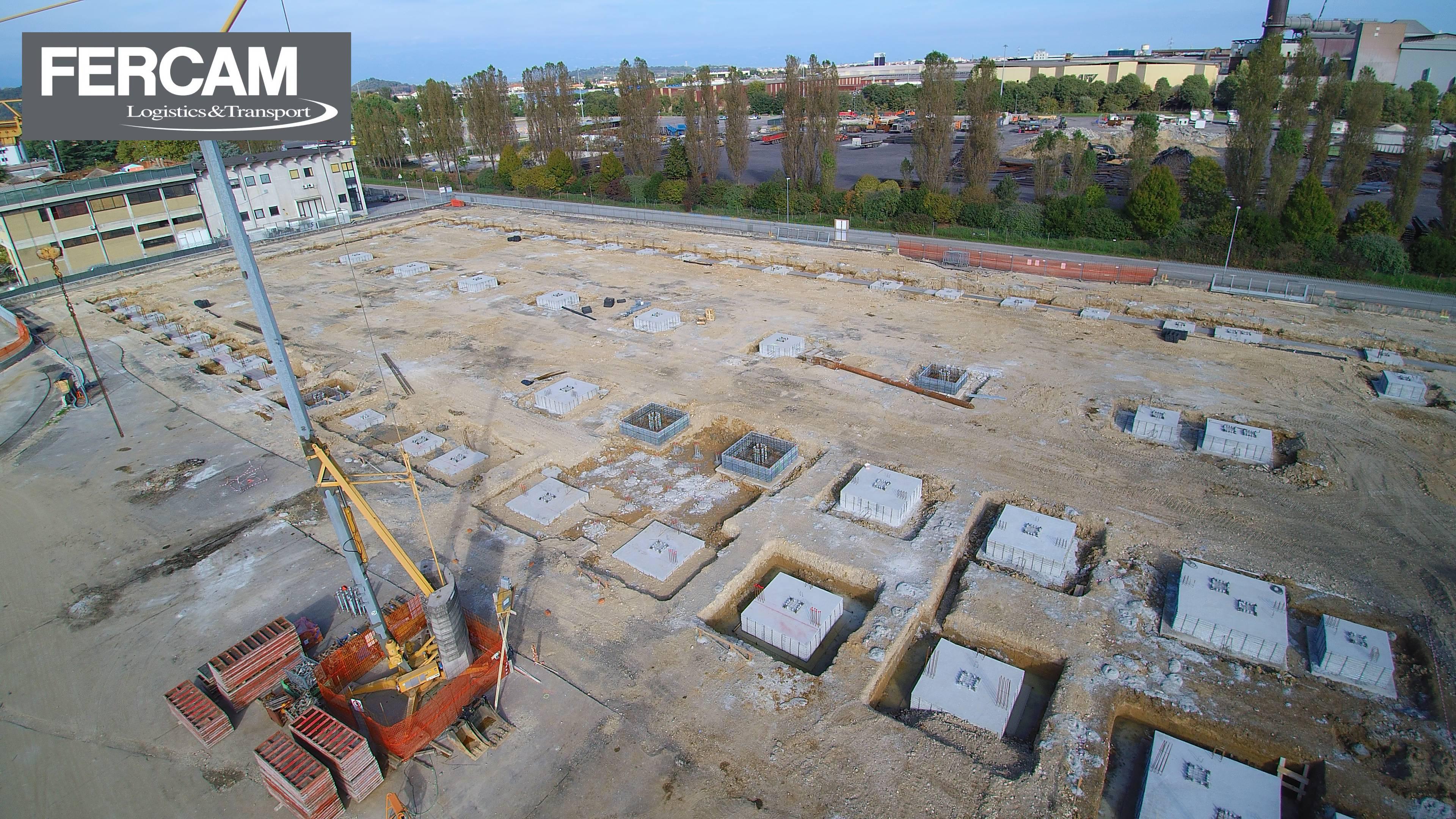 E' iniziata la costruzione del nuovo fabbricato industriale per logistica ad Altavilla (VI)
