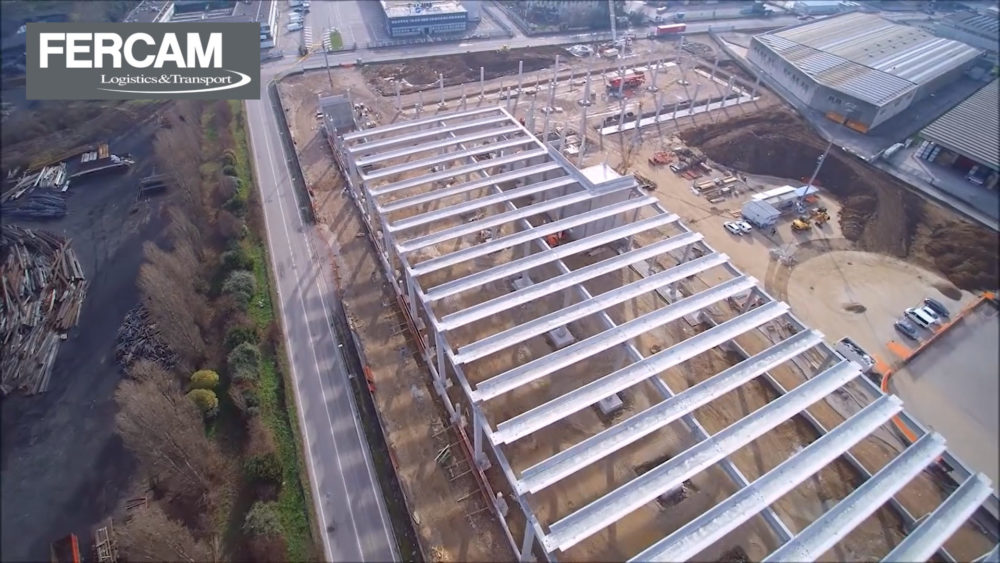 FASE 2: continuano i lavori di costruzione del nuovo fabbricato industriale per logistica ad Altavilla (VI)