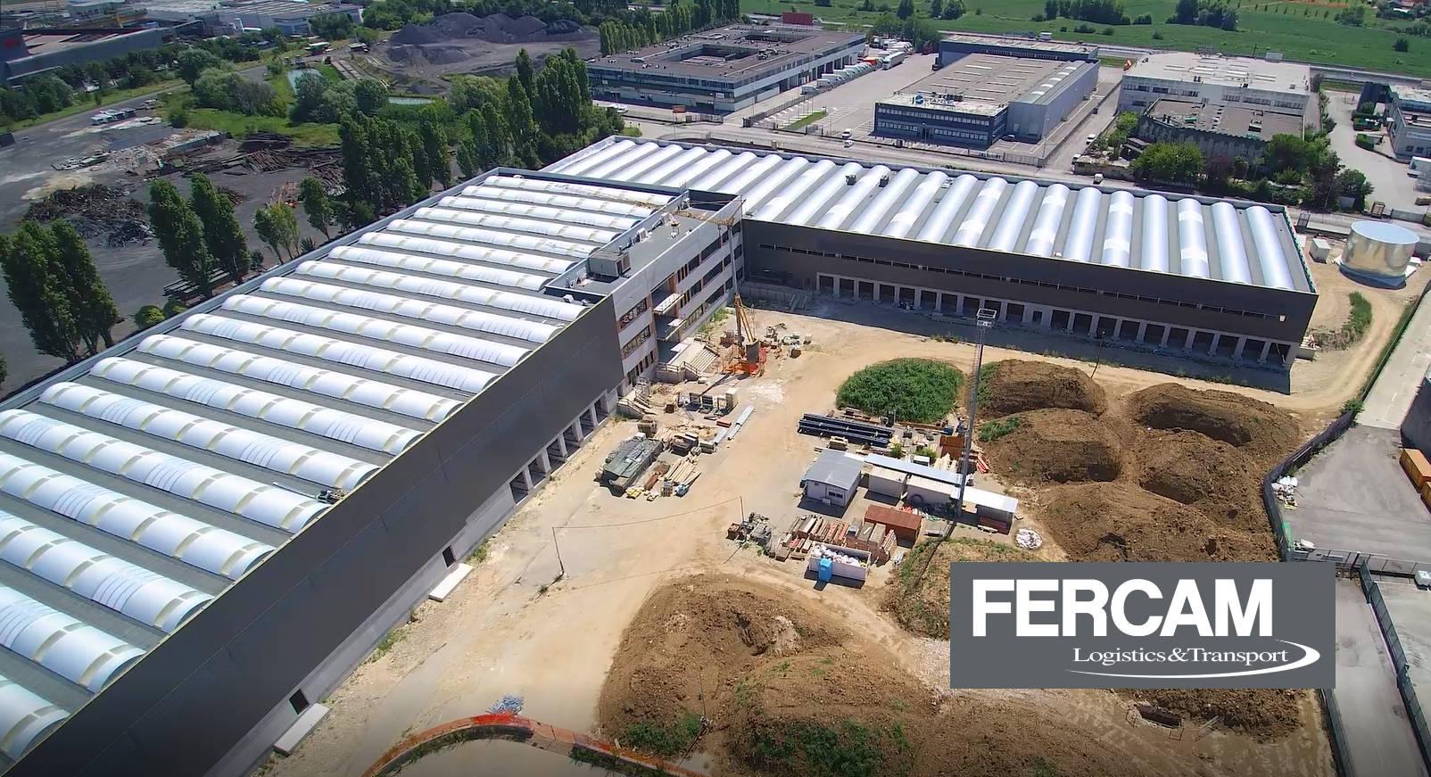 FASE 3: si conclude la fase di realizzazione delle strutture in elevazione del fabbricato industriale per logistica ad Altavilla (VI)