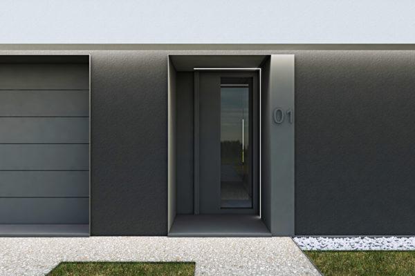 Residenza quattro quarti_Via Verdi Costabissara_Ingresso