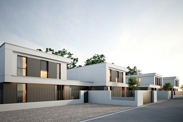 Residenza quattro quarti_Via Verdi Costabissara_Prospetto fronte