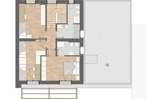 Residenza quattro quarti_Via Verdi Costabissara_Piano primo2